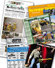 The Northwoods River News and The Northwoods Super Shopper produces several special sections throughout the year. Please check the