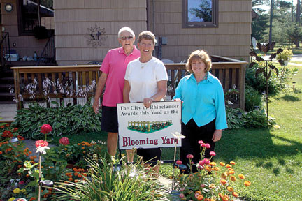 The Blooming Yard of the Month for August was awarded to Doug and Marcia Weight of 828 S. Oneida Ave. (Submitted photos)