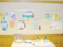 The subject of the Land and Water poster contest was �Watersheds: Our Water, Our Homes.� Judging has been completed but the posters themselves still adorn the walls of the hallway outside the zoning office in the Oneida County Courthouse.